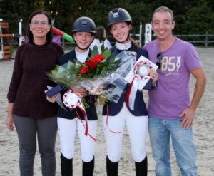 Dany, Yana, Mara und Claude Schanck bei der Siegerehrung Foto Klaus Morheng